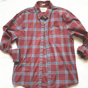 Men's Hollister Size XL Button Down Plaid Shirt